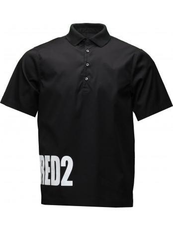 Poloshirt with Logo Print -...