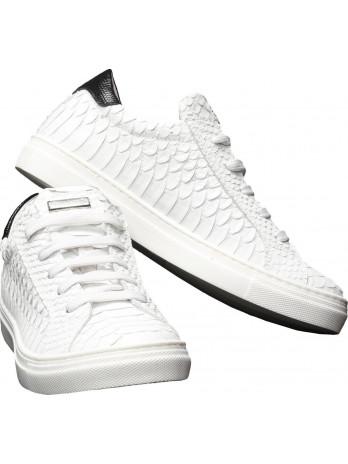 Kids Sneaker Mock Croc - White