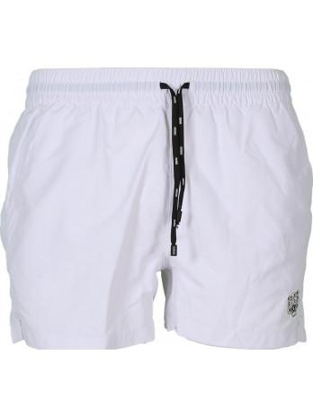 Swim Shorts with Logo Patch...