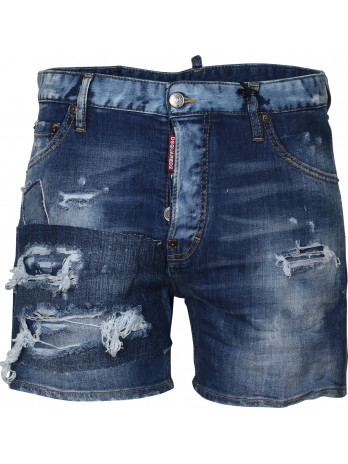 Distressed Jeansshorts - Blue