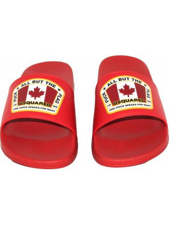 Canada Flag Rubber Slides -...