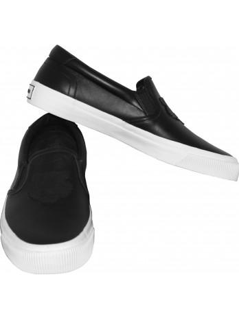 Leather Slip-On Tiger - Black