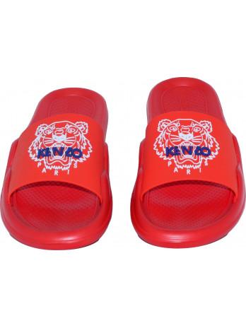 Tiger POOL Mules Slides - Red