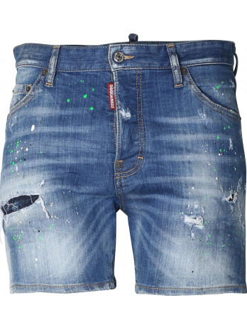 Distressed Jeans Shorts - Blue