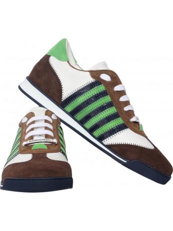 New Runner - White/Brown/Green