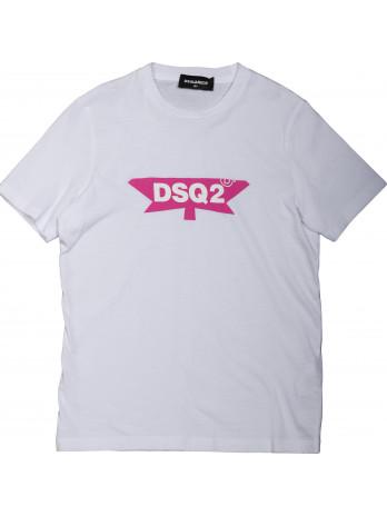DSQ2 Kids T-Shirt - White