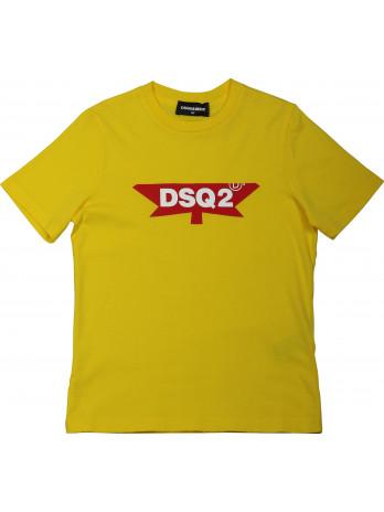DSQ2 Kids T-Shirt - Yellow