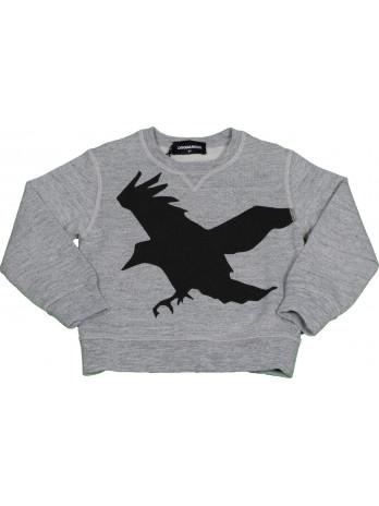 Kids Bird Sweater - Grey