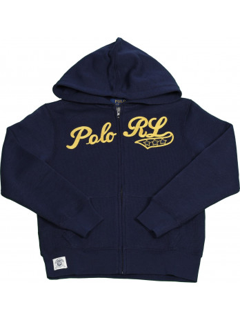 Kids Hoodie with Zipper - Blue