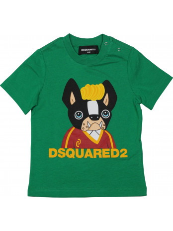 Baby T-Shirt Logo-Dog - Green