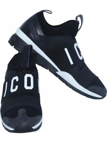 Icon Logo Sneakers - Black