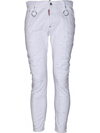 Tidy Biker Jeans - White