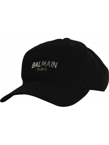 Metallic Logoprint Cap - Black