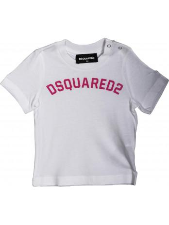 Baby Logo T-Shirt - White/Pink