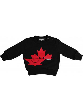 Baby Leaf-Logo Sweater - Black