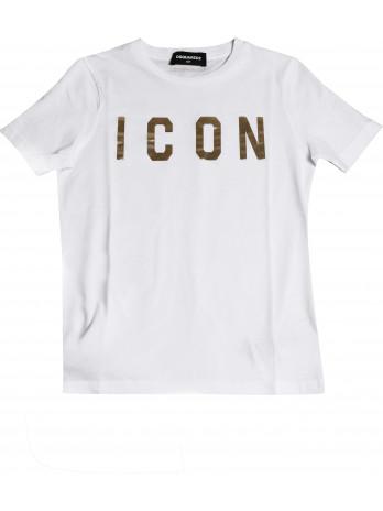 Icon Kids T-Shirt - White/Gold