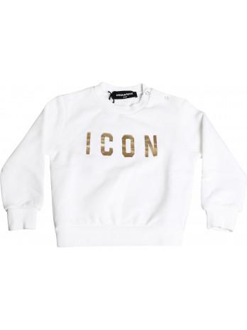 Baby Icon Logo Sweater - White