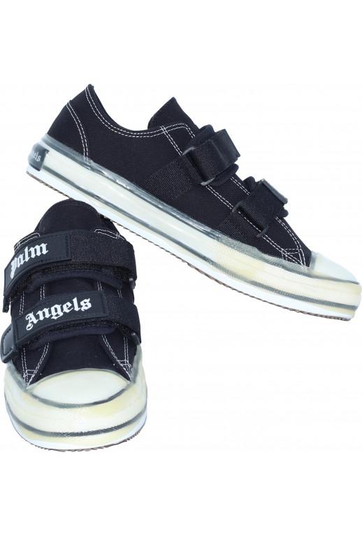 Velcro Vulcanized Sneaker Color Black