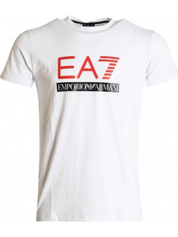 EA7 Logoprint T-Shirt - White