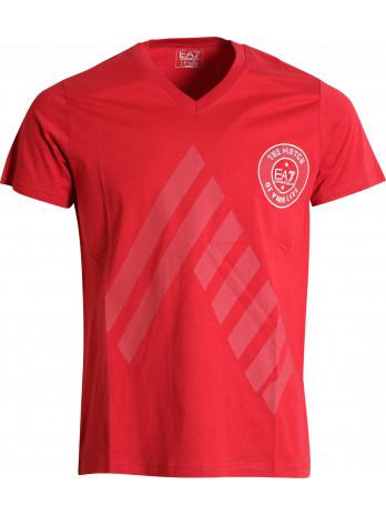 EA7 Logoprint T-Shirt - Red