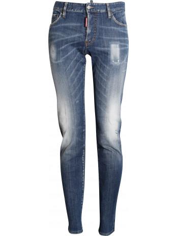 Distressed Slim Jeans - Blue