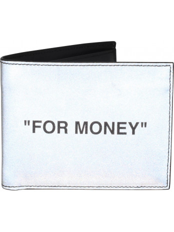 Quote Bifold Wallet - Silver