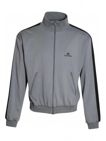Track Jacket with Logo - Grey