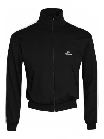 Track Jacket with Logo - Black