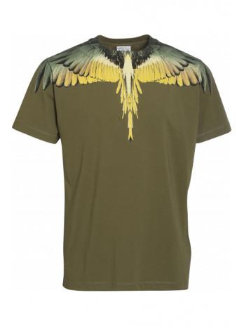 Wings T-Shirt - Green/Yellow