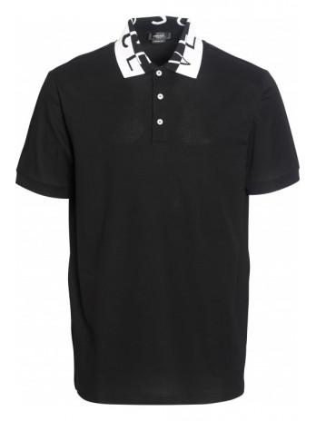 Polo shirt with logo collar...