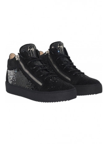 Low tops with crystals - Black