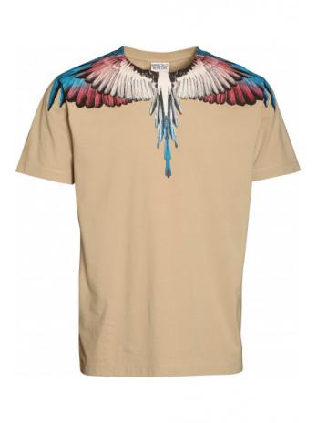 Wings T-Shirt - beige/burgundy
