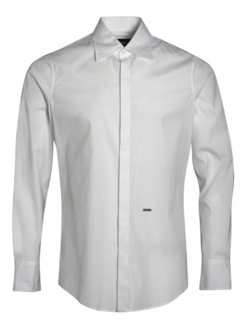 Langarm Hemd - White