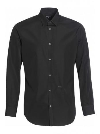 Langarm Hemd - Black