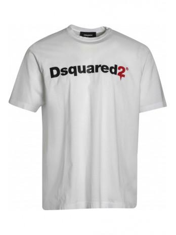 T-Shirt mit Logodruck - White