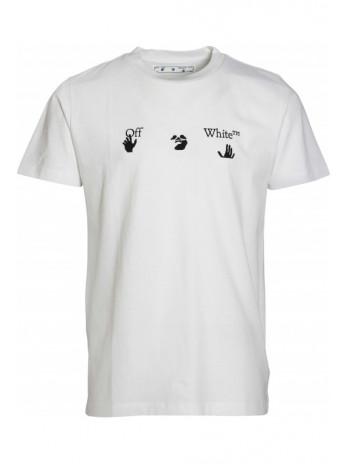 T-Shirt with Logoprint - White