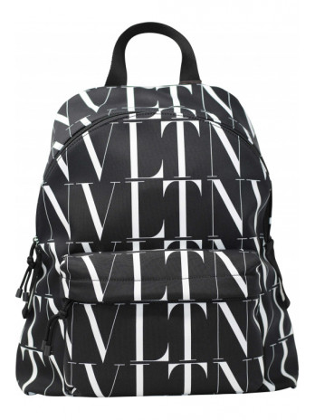 Backpack with logo print -...
