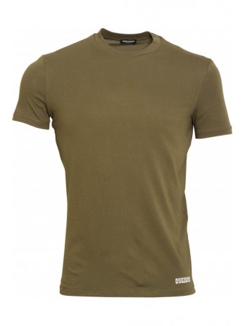 T-Shirt with Logo - Militär...