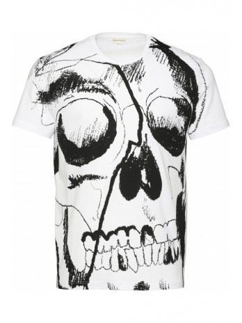T-Shirt with Skull Print -...