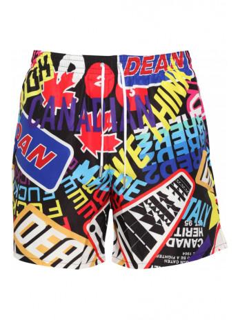 swim shorts with graphic print