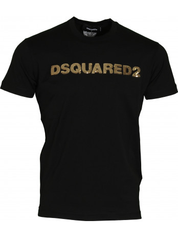 Logo with sequins T-Shirt -...