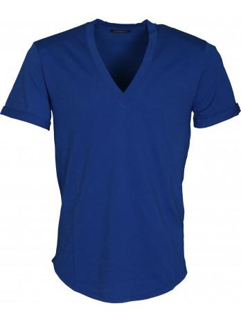 Basic V-Neck T-Shirt - Blue